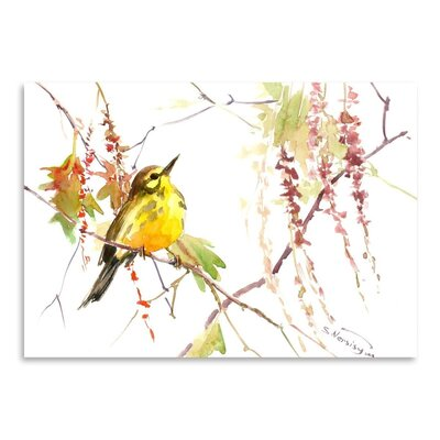 Americanflat 'Warbler in Spring' by Suren Nersisyan Painting Print on Wrapped Canvas