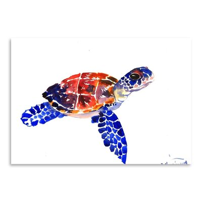 Americanflat 'Sea Turtle Babe' by Suren Nersisyan Painting Print on Wrapped Canvas
