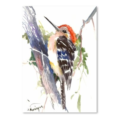 Americanflat 'Headed Woodpecker' by Suren Nersisyan Art Print Wrapped on Canvas