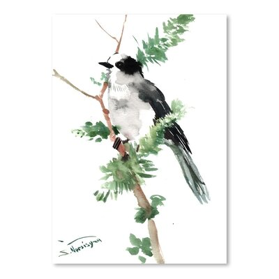 Americanflat 'Gray Jay' by Suren Nersisyan Painting Print on Wrapped Canvas