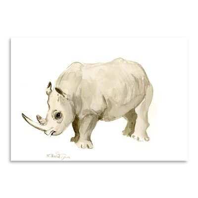 Americanflat 'Rhino' by Suren Nersisyan Painting Print on Wrapped Canvas