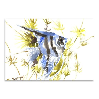 Americanflat 'Angelfish Aquarium' by Suren Nersisyan Painting Print on Wrapped Canvas
