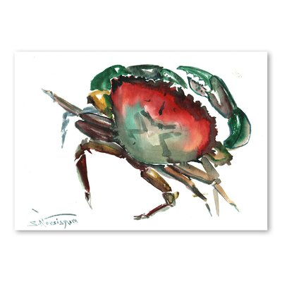 Americanflat 'Crab 3' by Suren Nersisyan Painting Print on Wrapped Canvas