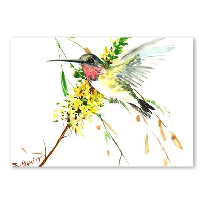 Americanflat 'Hummingbird 4' by Suren Nersisyan Painting Print on Wrapped Canvas