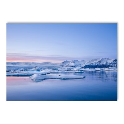 Americanflat Glaciers Graphic Art Wrapped on Canvas
