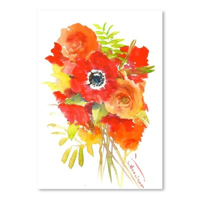 Americanflat 'Anemones Red' by Suren Nersisyan Art Print Wrapped on Canvas