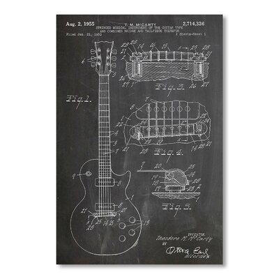 Americanflat 'Gibson Les Paul' by House of Borders Graphic Art Wrapped on Canvas