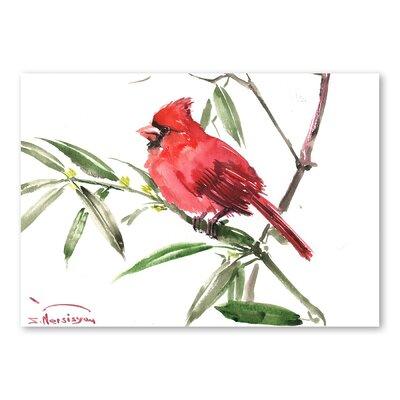 Americanflat 'Cardinal Bird III' by Suren Nersisyan Art Print Wrapped on Canvas