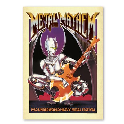 Americanflat 'Metal Mayhem' by Music Festival Vintage Advertisement on Wrapped Canvas