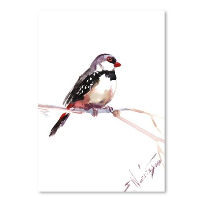 Americanflat 'Diamond Firetail' by Suren Nersisyan Painting Print on Wrapped Canvas