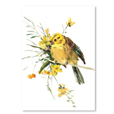 Americanflat Yellowhammer Painting Print on Wrapped Canvas