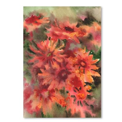 Americanflat Blanket Flowers 3 Painting Print on Wrapped Canvas