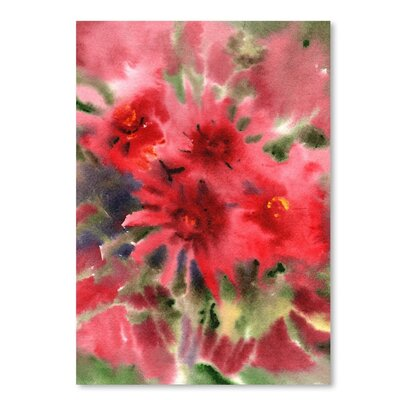 Americanflat Blanket Flowers 2 Painting Print on Wrapped Canvas