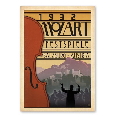 Americanflat '1932 Mozart Fest' by Music Festival Vintage Advertisement on Wrapped Canvas