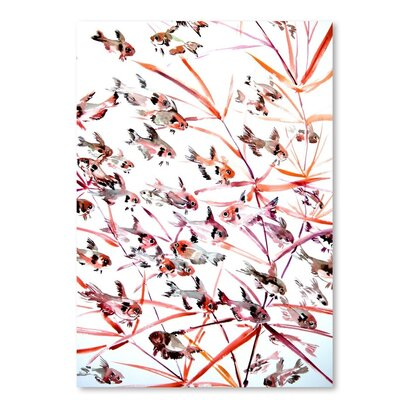 Americanflat Tetra Fish Painting Print on Wrapped Canvas