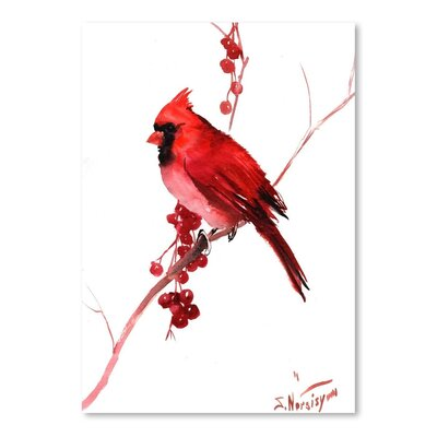 Americanflat 'Cardinal Bird' by Suren Nersisyan Art Print Wrapped on Canvas