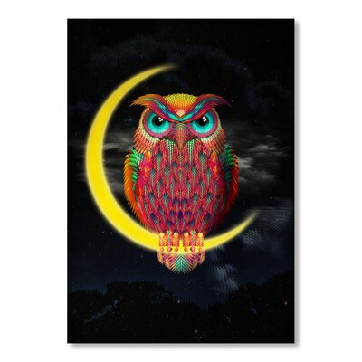 Americanflat 'Owl S Hi' by Ali Gulec Graphic Art Wrapped on Canvas