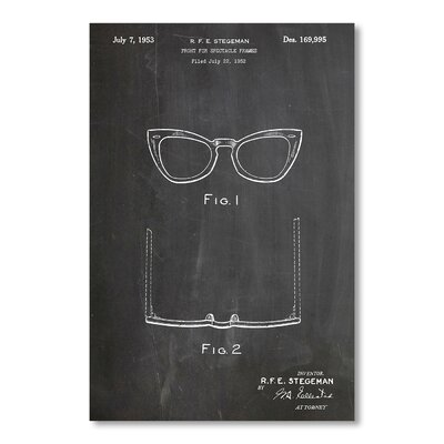 Americanflat 'Ray-Ban' by House of Borders Graphic Art on Wrapped Canvas