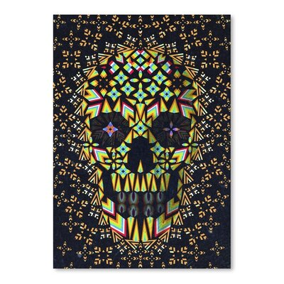 Americanflat Skull 6 Graphic Art on Wrapped Canvas