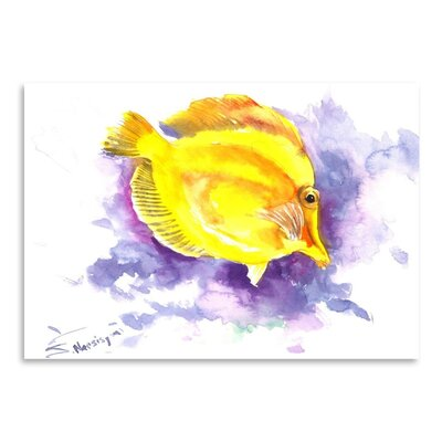 Americanflat 'Yellow Angelfish' by Suren Nersisyan Painting Print on Wrapped Canvas