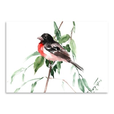 Americanflat 'Rose Crested Grosbeak' by Suren NersisyanPainting Print on Wrapped Canvas