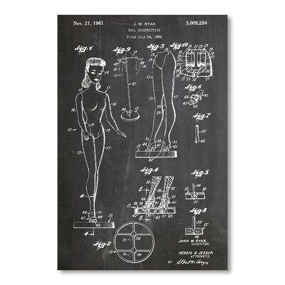 Americanflat 'Barbie Doll' by House of Borders Graphic Art Wrapped on Canvas