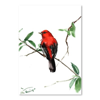 Americanflat 'Summer Tanager 5' by Suren Nersisyan Painting Print on Wrapped Canvas