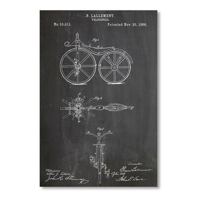 Americanflat 'Bicycle' by House of Borders Graphic Art on Wrapped Canvas