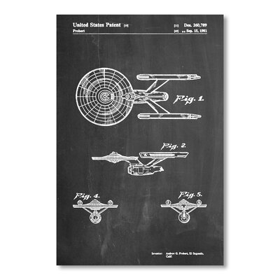 Americanflat 'Starship Enterprise' by House of Borders Graphic Art on Wrapped Canvas