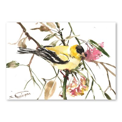 Americanflat 'Goldfinch' by Suren Nersisyan Painting Print on Wrapped Canvas