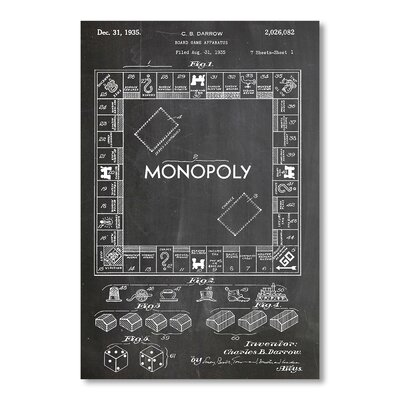 Americanflat 'Monopoly' by House of Borders Graphic Art on Wrapped Canvas