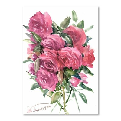 Americanflat 'English Roses' by Suren Nersisyan Painting Print on Wrapped Canvas