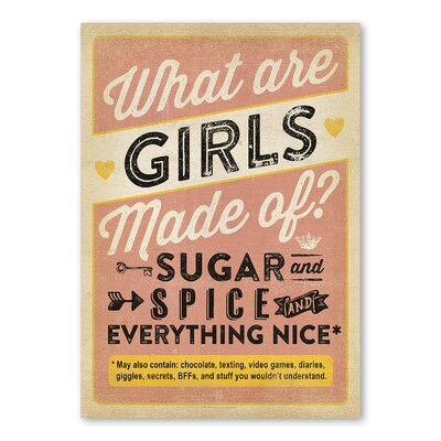 Americanflat Girls are Made of Typography on Wrapped Canvas