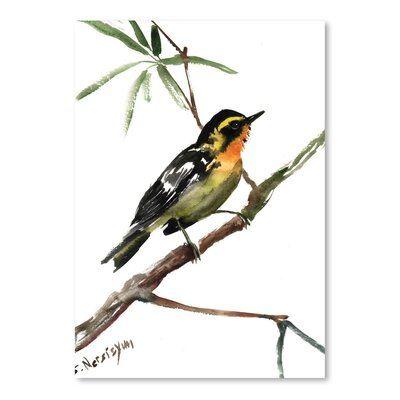 Americanflat 'Yellow Warbler' by Suren Nersisyan Painting Print on Wrapped Canvas