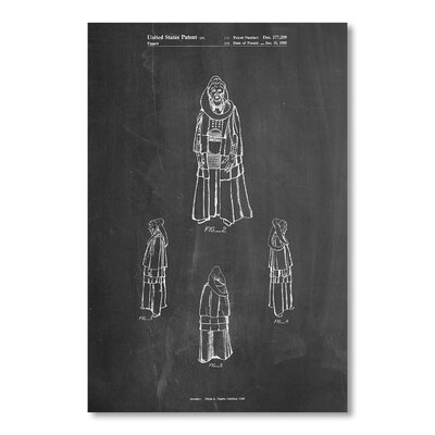 Americanflat 'Bib Fortuna' by House of Borders Graphic Art on Wrapped Canvas