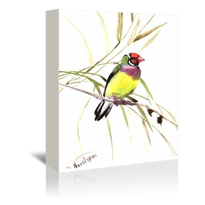 Americanflat 'Gouldian Finch' by Suren Nersisyan Painting Print on Wrapped Canvas