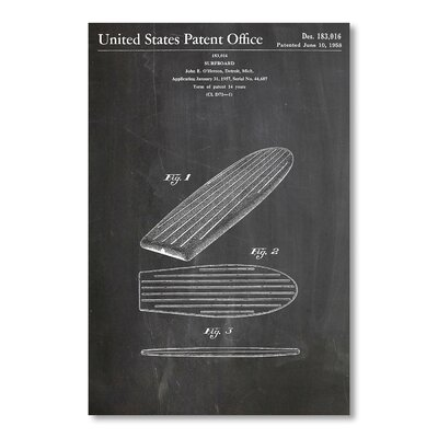 Americanflat 'Surfboard' by House of Borders Graphic Art on Wrapped Canvas