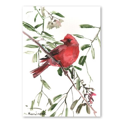 Americanflat 'Summer Tanager II' by Suren Nersisyan Painting Print on Wrapped Canvas