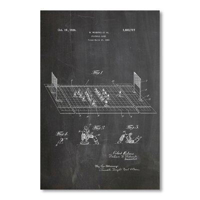 Americanflat 'Electric Football Game' by House of Borders Graphic Art on Wrapped Canvas
