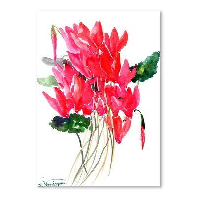 Americanflat 'Cyclamen' by Suren Nersisyan Painting Print on Wrapped Canvas