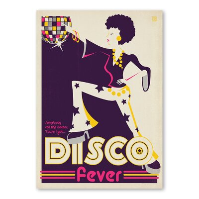 Americanflat 'Disco' by Music Festival Vintage Advertisement on Wrapped Canvas