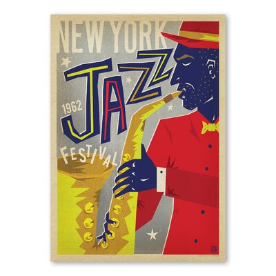 Americanflat 'NY Jazz Fest' by Music Festival Vintage Advertisement on Wrapped Canvas
