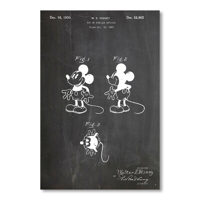 Americanflat 'Mickey Mouse' by House of Borders Graphic Art on Wrapped Canvas