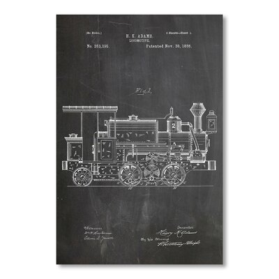 Americanflat 'Locomotive' by House of Borders Graphic Art on Wrapped Canvas