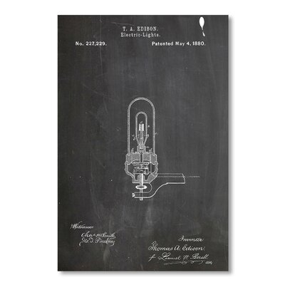Americanflat 'Light Bulb' by House of Borders Graphic Art on Wrapped Canvas