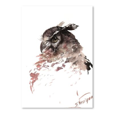 Americanflat 'Horned Owl' by Suren Nersisyan Painting Print on Wrapped Canvas
