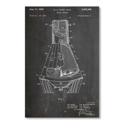 Americanflat 'Space Capsule' by House of Borders Graphic Art on Wrapped Canvas