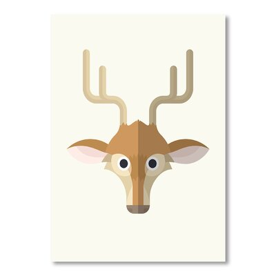 Americanflat 'Deer Print' by Christian Jackson Graphic Art on Wrapped Canvas