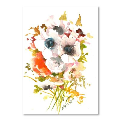 Americanflat 'White Flowers' by Suren Nersisyan Painting Print on Wrapped Canvas