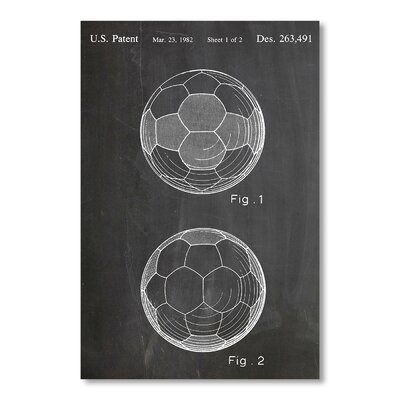 Americanflat 'Soccer Ball I' by House of Borders Graphic Art on Wrapped Canvas